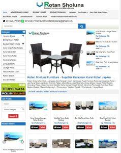 Contoh Jasa Desain Website Toko Online Jepara Rotansholuna.com