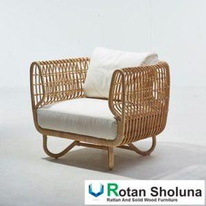 Produk Sofa Jari Anyaman Natural Rattan