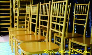 Harga Kursi Tiffany Warna Gold Resepsi Pernikahan