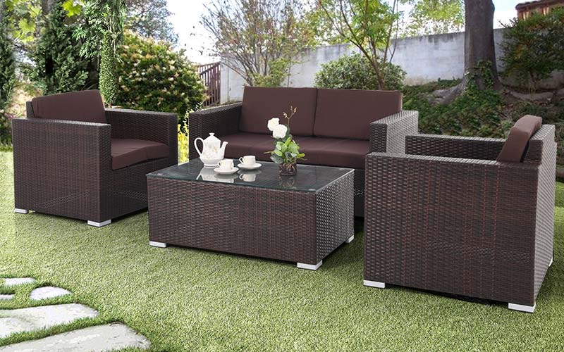 Sofa Rotan Sintetis Minimalis