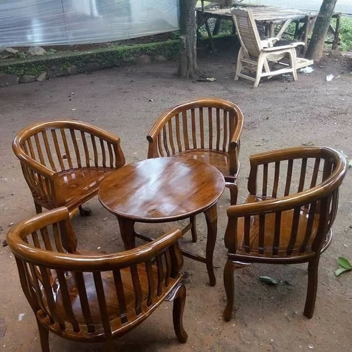 Kursi Teras Tamu Betawi K4 dan Meja