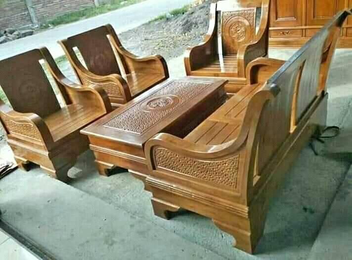 Kursi tamu ukir model semut 2111 dudukan bahan kayu jati produk jepara