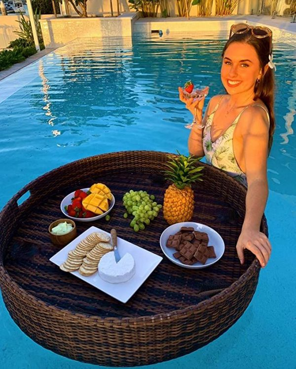 Nampan Floating Tray Rotan Breakfast